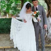 给女儿做的婚纱 女士钩针菠萝花样礼服裙