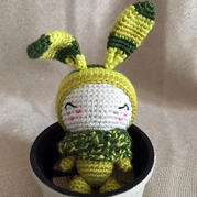 被春天染色的小兔叽 钩针杯子兔玩偶图解翻译