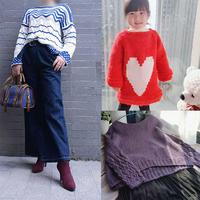 202104期周热门编织作品:手工编织女士儿童棒针服饰12款