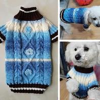 狗狗的年服  段染线棒针狗狗毛衣