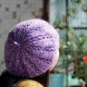 春天来顶贝蕾帽吧 美美哒云纹线女士棒针贝雷帽