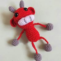 迎春小红牛 钩针牛牛玩偶编织记录