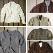 适合不同年龄层男士的不同风格棒针开衫款6款