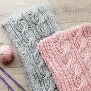 棒针麻花围巾编织视频教程