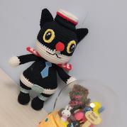 黑猫警长 原创钩针编织国漫玩偶图解