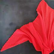 红飞翠舞 女士钩针羊绒三角披肩