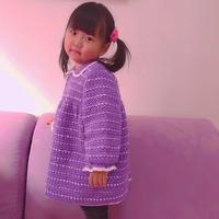萌可爱儿童钩针娃娃领连衣裙