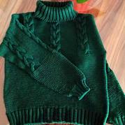 12针麻花儿童棒针高领毛衣