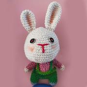 造型特别可爱钩的钩针小白兔