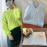 202106期周热门编织作品:2021年春款手工编织服饰9款
