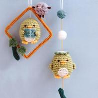 零线编织萌物 可爱的钩针挂件编织图解(含小玩偶钩法详细过程)