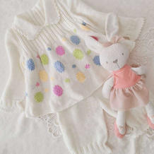 圆点 甜美可爱棒针小公主娃娃翻领裙衣