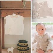 簡單實用寶寶鉤針系帶和尚服(有步驟圖)