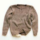 简约休闲男士棒针亨利领式套头毛衣