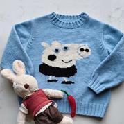 乔治 小猪佩奇主题毛衣图案儿童毛衣