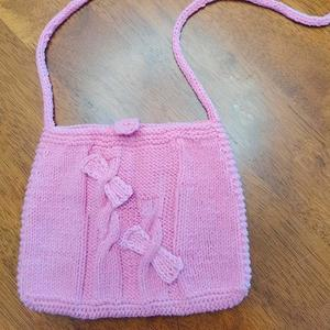 可爱的小包包 竹签编织儿童麻花蝴蝶结小挎包