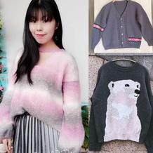 202107期周热门编织作品:女士儿童棒针编织毛衣10款