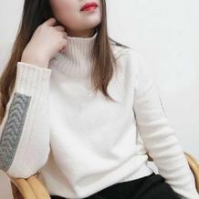 闲舒 慵懒休闲女士棒针羊绒毛衣