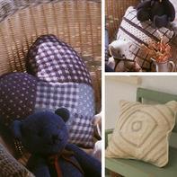温馨居家编织美物3款棒针方形心形抱枕编织图解