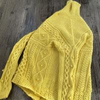 重工毛衣编织心得  纵横编织女士棒针阿兰花休闲毛衣