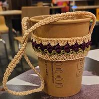 简单好织创意钩针郁金香奶茶杯套