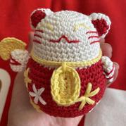 可爱毛线编织招财猫钩针编织教程
