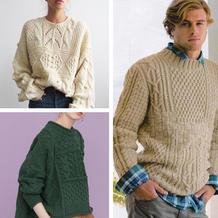 繁华阿兰重工毛衣 效果拉风织法自由又有挑战