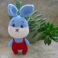 Blue兔 很可爱的钩针小小兔