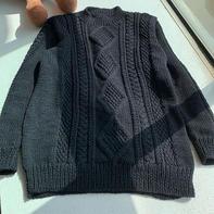 经典男士棒针阿兰毛衣编织教程