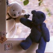 腿脚可以活动的棒针小熊玩偶编织图解