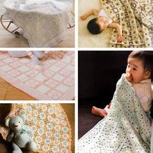 70厘米左右钩针方毯 五款钩针婴幼儿宝宝毯编织图解