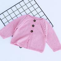 麻花插肩开衫(2-1)从上往下编织儿童毛衣编织视频教程