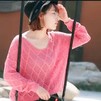 宁夏镂空上衣(2-2)零基础学打毛衣编织视频教程