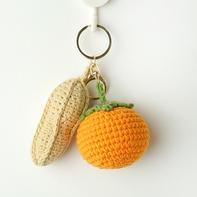 好事发生 柿子花生美好寓意钥匙挂饰包挂件编织视频