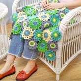 春意钩针毯 家居编织毛线毯拼花毯编织视频教程