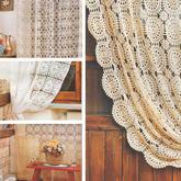 7款复古唯美钩针蕾丝窗帘编织图解