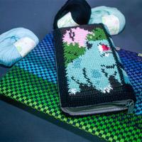 宠物小精灵图案钩针钱包外套 图案也可以用于织毛衣
