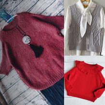 202110期周热门编织作品:春款女士儿童手编服饰10款