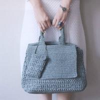 简约时尚子母包女士钩针手提包编织图解