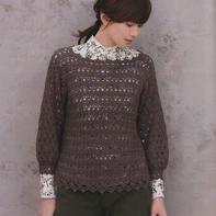 美丽春夏编织女士钩针外搭蕾丝罩衫