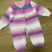 云朵棒针宝宝多用途连体衣,还可做大衣或睡袋