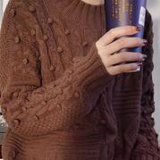 多款花样组合女士棒针阿兰毛衣