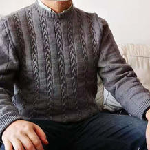 兄弟KH820机织扭花男士毛衣编织教程