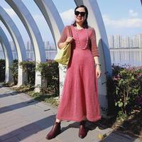 蔷薇恋人 女士棒针马海连衣长裙