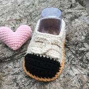 小香风豆豆鞋 毛线编织钩针宝宝鞋婴儿鞋编织视频
