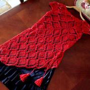 过一个有红麻棉的夏 云素麻棉钩针不规则下摆菠萝裙衣