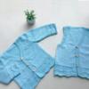 蓝精灵(5-5)儿童棒针凤尾花马甲背心与长袖开衫编织视频教程