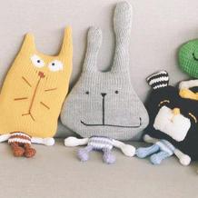 玩偶大嘴兔(2-2)家用编织机LK150机织玩偶编织视频