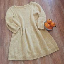 普拉达 女士棒针羊绒马海收腰连衣裙