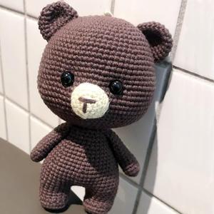 不想撒手的萌可爱钩针小熊玩偶